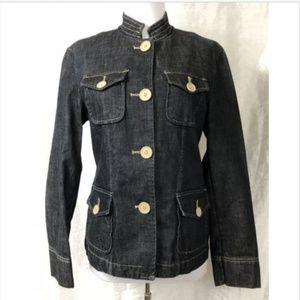 GAP Women's Size 4 Dark Wash Denim Jean Jacket